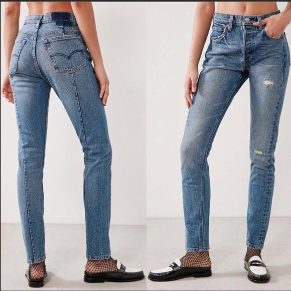 fcf65ce633b Levi's Jeans | New Levis Altered 501 Skinny Distressed 28 | Poshmark
